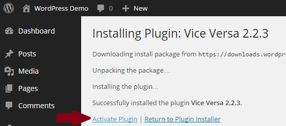 Activeren-vice-versa-plugin