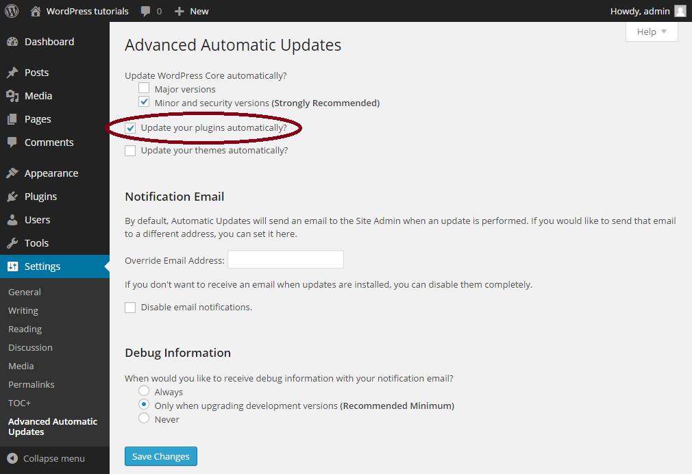 Advanced Automatic Updates-automatisch-updaten