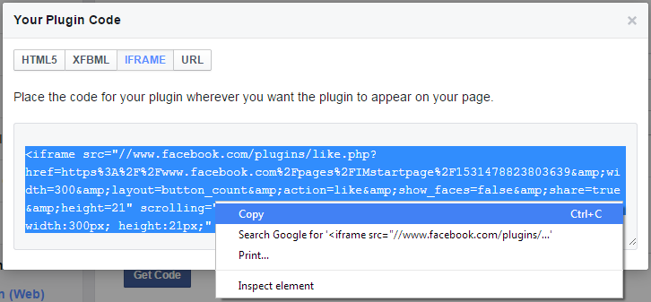 Facebook-vind-ik-leuk-knop-code