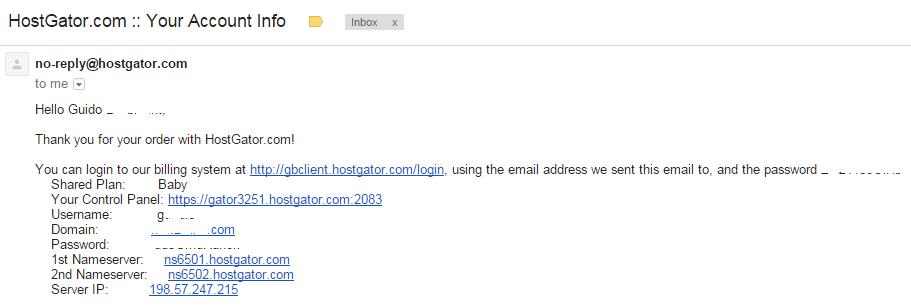 Hostgator-account-informatie-email