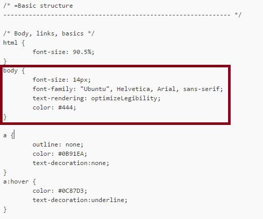Stylesheet-CSS-font-veranderen