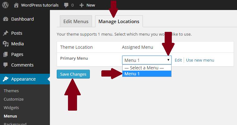 WordPress-menu-gebruiken