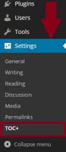 Table-of-contents-plus-instellingen