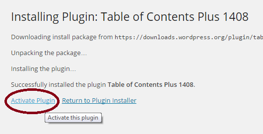 table-of-contents-plus-plugin-activeren