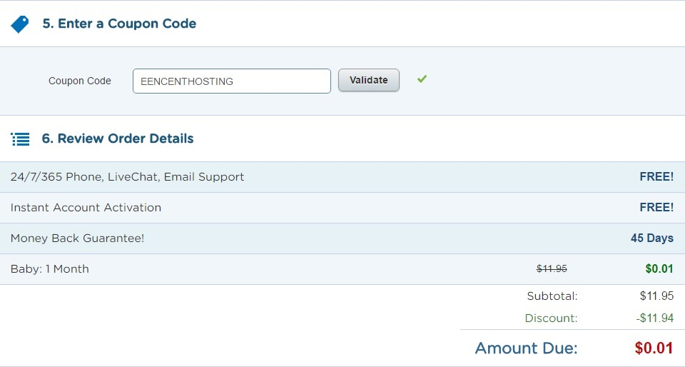 hostgator couponcode EENCENTHOSTING